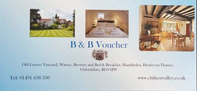 Bed & Breakfast gift voucher for two