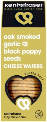 Crackers ~ Oak Smoked Garlic & Black Poppy