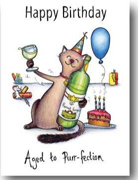 Z Cards ~ Happy Birthday ~ Aged to Purr-fection