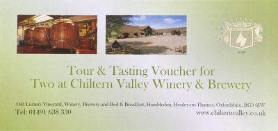 Tour and Tasting gift Voucher For Two