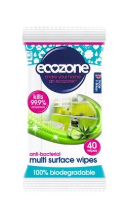 Anti-bacterial wipes 100% biodegradable (40 wipes)